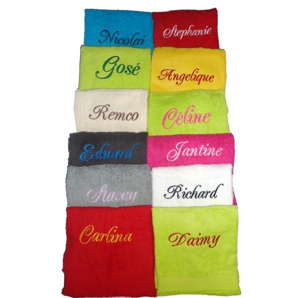 Handdoek Laten Borduren.Badlaken Met Naam Geborduurd